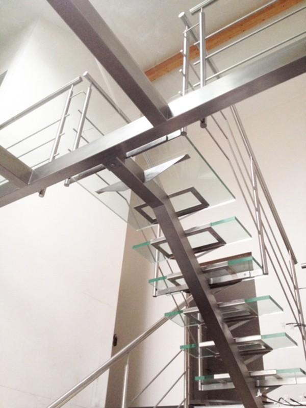 Quat Escalier Et Passerelle Verre Et Inox Devis Lu